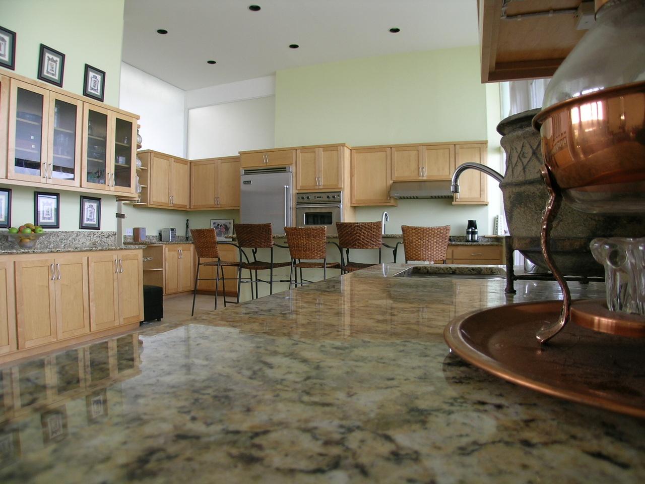a modern looking kitchen